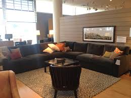 crate and barrel denim sofa with crate barrel sectional axis ii color charcoal 2700 3000 living and crate barrel sectional axis ii color charcoal 2700 3000