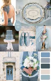 French Blue Wedding Color Palette Inspiration :: #bluewedding #blue  #colorpalette | dusty