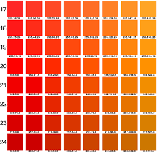 Orange Pantone Color Chart Pantone Orange Chart Google Search In 2019 Pantone Color