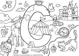 Small Picture I Spy Alphabet Colouring Pages