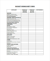 Sample Budget Detail Worksheet Ncjrs - Mandegar.info