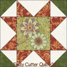 Dusty Rose Sage Floral Fabric Easy Pre-Cut Quilt Blocks Kit ... & Rhapsody Daisy Orange Sage Floral Fabric Easy Pre-Cut Star Quilt Blocks Top  Kit Adamdwight.com