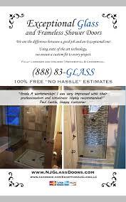 frameless glass shower exceptional glass llc website header njglassdoors com 888 83 glass exceptional glass