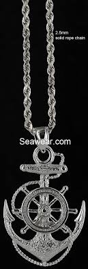 shown with 2 5mm solid rope chain