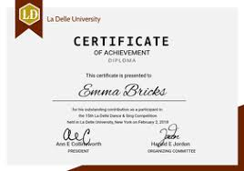 Templates For Certificates Free Professional Diploma Certificates Postermywall