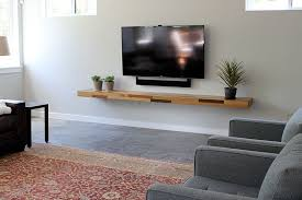 Wood Floating Tv Shelves