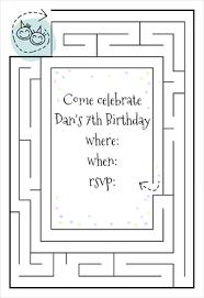 Print Out Birthday Invitations Birthday Maze Free Birthday Invitation Template Greetings Island 95