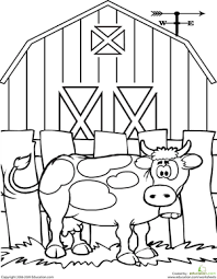Small Picture Cow Coloring Page Cow Worksheets and Farming