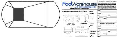 pool liner measurements in ground swimming pool liners Inground Pool Diagram roman end vinyl inground pool liners inground pool diagram