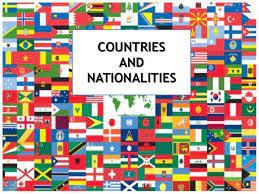 Nationatilities slide