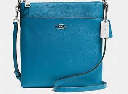 Coach Zip In Logo Small Blue Crossbody Bags CFT,coach wallet sale,largest  collection  Coach Legacy ...
