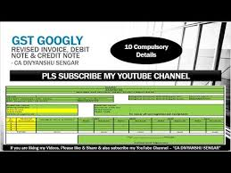 Debit Note Letter Delectable GST Revised TAX Invoice GST Debit Note GST Credit Note FORMATS