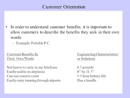 customer orientation examples understanding customers shantanu dutta objectives customer