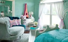 Blue Rooms For Girls Purple Shelves On The White Wall Girls Blue Room Ideas With Purple