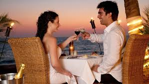 romantic dinner romantic place with romantic couple hd wallpaper for mobile free