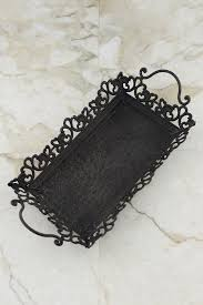 Decorative Metal Serving Trays Metal Serving Tray with Handles Rustic Black 34