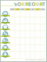 Free Printable Chore Chart For 4 Year Old Create A Chore Chart That Works Free Chore Charts For Kids