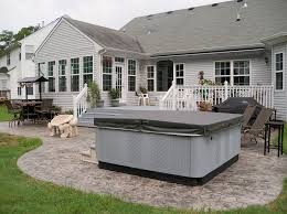 stamped concrete patio with square fire pit. Stamped Concrete Patio With Square Fire Pit.  Pit
