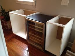 Cabinet With Wine Cooler Diy Beverage Station The Home Depot Cabinets The Fireplace