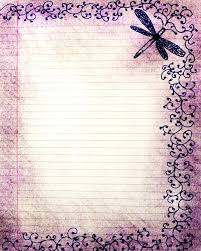 Decorative Writing Paper Redbanktweed