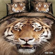 tiger bedding tiger print bedding set quilt duvet cover bedspread king size queen double cotton bed