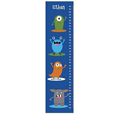 Monster Height Chart Amazon Com Monster Growth Chart Personalized Growth Chart
