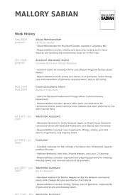 resume visual merchandiser