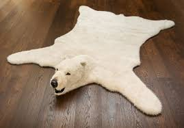 architecture and home endearing polar bear rug at letter disgusted by ad polar bear rug