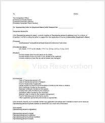 Immigration Letter Of Recommendation Sample Sponsorship Letter For Schengen Visa Sample Letter From Sponsor