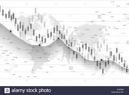 Candle Chart For Stock Stock Market And Exchange Business Candle Stick Graph Chart