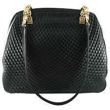 Bally Vintage Quilted Black Leather Shoulder Gold Chain Bag For ... & Bally Vintage Quilted Black Leather Shoulder Gold Chain Bag 1 Adamdwight.com
