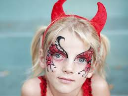 face painting for devil costume