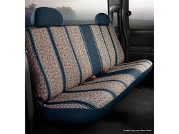 picture of wrangler custom seat cover saddle blanket navy rear bench seat
