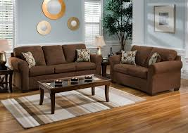 warm living room color schemes with chocolate brown couch and rectangle glass coffee table