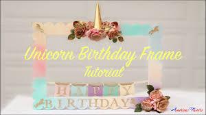 unicorn diy foam frame for a birthday