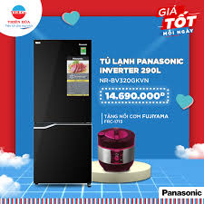 Điện Máy Thiên Hòa - ?Tặng ngay Nồi cơm điện FUJIYAMA FRC-1715 (đỏ) trị  giá 750.000đ khi mua Tủ lạnh Panasonic inverter 290 lít NR-BV320GKVN tại  Điện máy Thiên Hòa ?Giá tủ