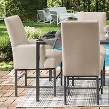 outdoor upholstered furniture. metro outdoor upholstered dining arm chair in topsail flax and charcoal arhaus pinterest contest furniture a