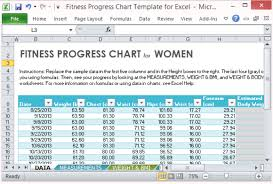 Exercise Tracking Chart Excel Fitness Progress Chart Template For Excel