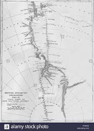 Main Chart Map British Antarctic Expedition 1910 13 Track Chart Of