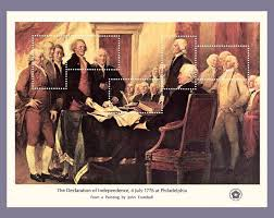 b declaration of independence 1776 stamps