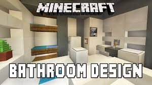 Minecraft Kitchen Xbox Minecraft Tutorial How To Build A Modern House Ep7 Bathroom