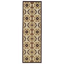 kaleen five seasons khaki 3 ft x 8 ft indoor outdoor runner rug