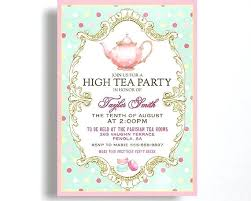 tea party invitations free template high tea baby shower invitations free jazzprostore