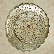 dariela silver gold round metal wall art