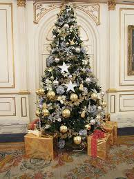 Silver And Gold Christmas Tree Decorations Part - 18: Christmas Tree With  Flowers