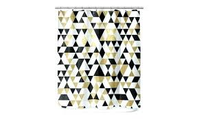 curtain designs gold black and white shower black