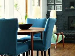 new blue tweed dining room chairs update the dining room dans le teal dining room chairs