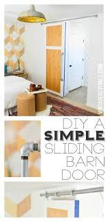 brian built barn doors. DIY Simple Sliding Barn Door @ Vintage Revivals Brian Built Doors