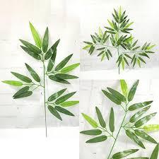 <b>Artificial Bamboo Leaf</b> Plant Plastic Tree Branches <b>Leaves</b> Home ...