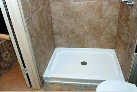 replace shower pan with tile shower pan tile replacing fiberglass with a guide on how vs